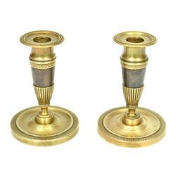 Divi bronzas svečturi