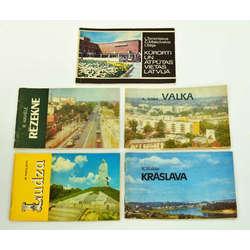 Dažādu pilsētu kūrortu brošūras
