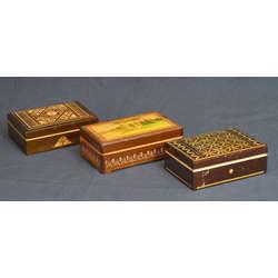 Wooden chests 3 pcs