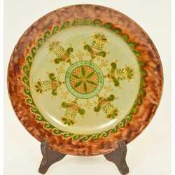 Keramikas sienas sķīvis