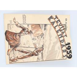 Ed. Alaiņa Tēvijas kalendāra 1939. gada vāka skice