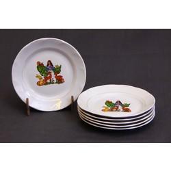 Porcelāna šķīvji (6 gab.)