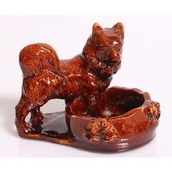 Keramikas trauciņš ar suni