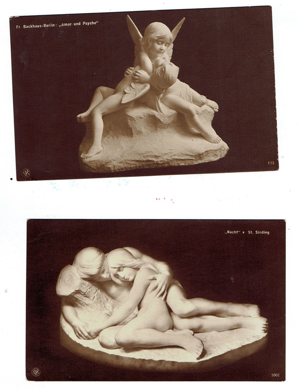 Открытки со скульптурами (12 шт.)