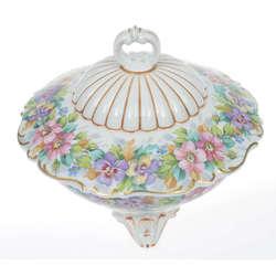Porcelāna dekoratīvā lādīte ar vāciņu