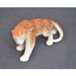 Faience figure 'Leopard'