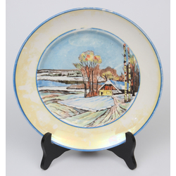 Painted porcelain plate