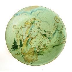 """Keramikas šķīvis """"Siena pļauja"""""""