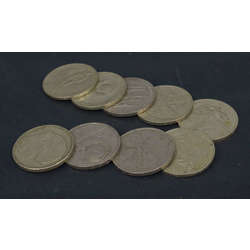 1 ruble coins (9 pieces)