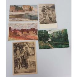 5 шт. Открытки с репродукции латвийских художникoв