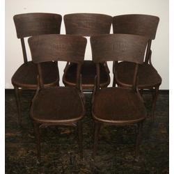 Chairs with symbols of Latvian society 5 pcs