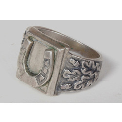 Vīriešu sudraba gredzens