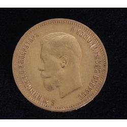 Zelta 10 rubļu monēta