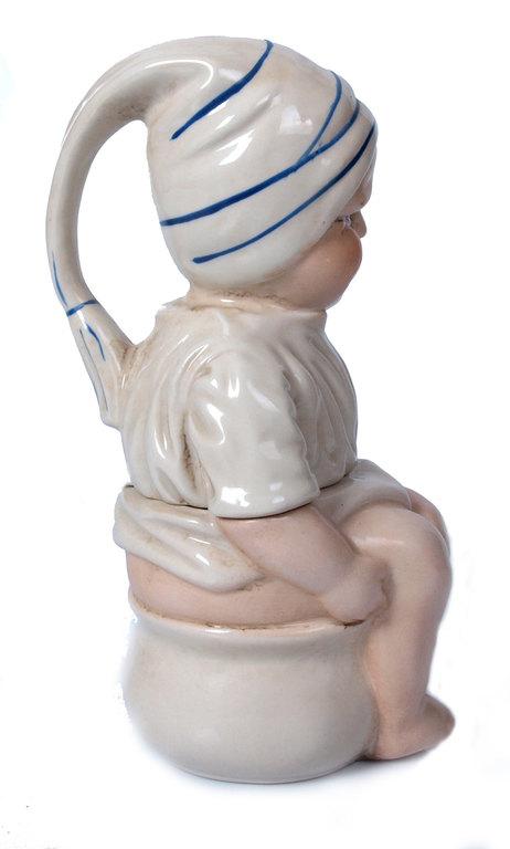 Porcelāna sinepju trauks