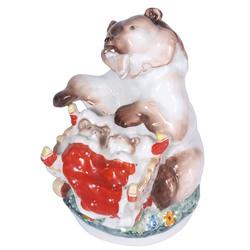 Porcelāna figūra ''Lācis ar šūpulīti''