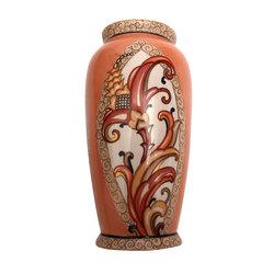 Porcelāna vāze ar ziedu motīvu