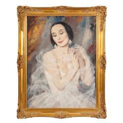Baletdejotājas Annas Pavlovas portrets