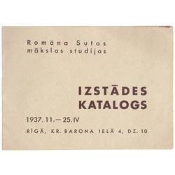 Romāna Sutas mākslas studijas izstādes katalogs