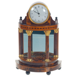 Swedish master Jacob Koch's mahogany fireplace clock