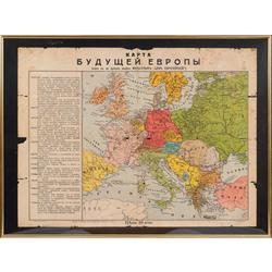 Pirmā Pasaules kara aģitācijas topošās Eiropas karte