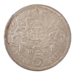 1929. g. Piecu latu monēta