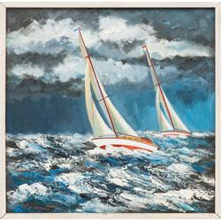 Яхты в шторм