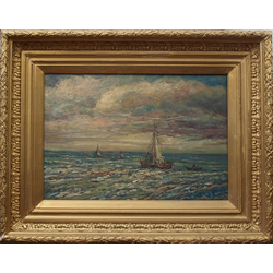 Landscape with sailing ship